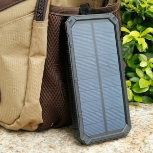 What features should you look for in solar panels for solar phone chargers