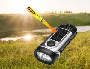 Security & Protection Outdoor Solar Powered Led Flashlight Camping Emergency Light Hammer Torch Light With Power Bank Magnet Survival Tool
