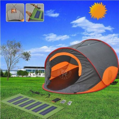 As for the tentu0027s features itu0027s equipped with large solar panels spanning three banks of the fly. You can also find a power bar inside where you can dock ... & 5 Top-Rated Solar-Powered Tents For Camping Enthusiasts