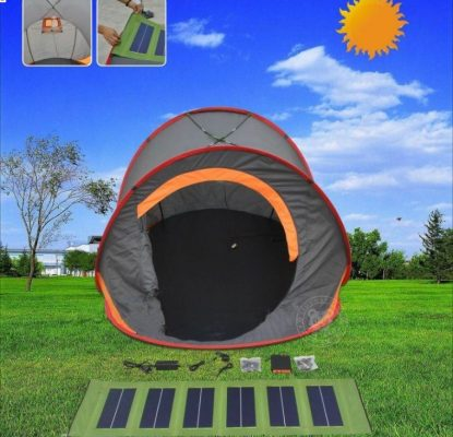 If youu0027re looking for a solar tent that is great for festivals or during c&ing Orange Solar Tent is a smart choice. & 5 Top-Rated Solar-Powered Tents For Camping Enthusiasts
